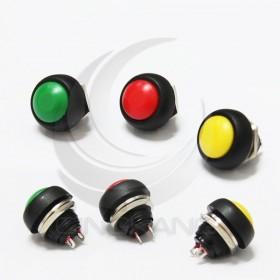 小圓型按式開關(無段)12MM 黃色