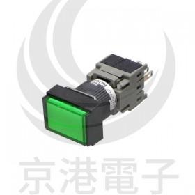 AH164-TLG11E3 富士 16ψLED長方型按鈕 復歸 1A1B 24V/綠