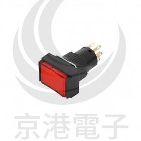 TT16-MLL47R1 天得16mm 長方形復歸照光按鈕(紅) LED 24V 1A1B