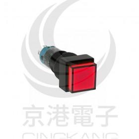 IDEC 12mm正方型照光復歸-紅 2.2V 1C