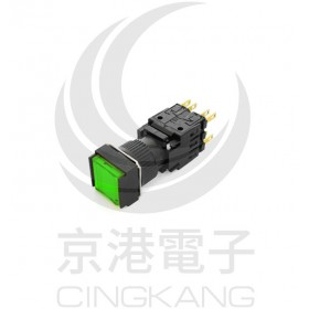 TN16-MLS47G2 天得 16/方形復歸照光LED24V 綠色2C