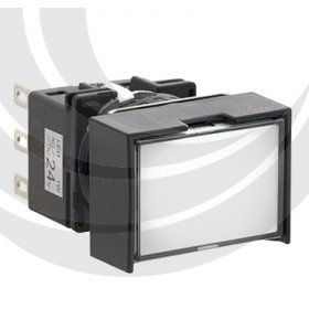 和泉 16/長方形照光按鈕LED 24V 1C白色