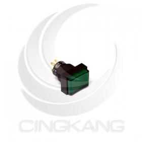 長方型按式開關發光 有段 綠色110V/220V