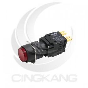 天得LED 16/交替式PB LED圓形按鈕 紅色 1A1B(有段) DC24V