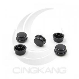 按鍵開關 圓型保護蓋 孔2*3 黑色 (5PCS/包)