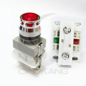 AP 平頭照光按鈕-紅(#22) AC220V 1A1B 霓虹燈