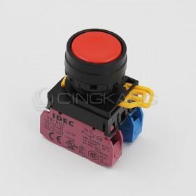 和泉 22/平頭按鈕(黑圈) 1A1B 紅色YW-E01-M1E11R