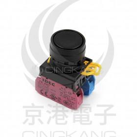 和泉 22/平頭按鈕(黑圈) 1A1B 黑色YW-E01-M1E11B