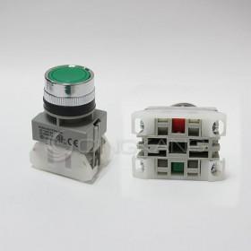 AP 平頭按鈕-綠(#25)  1A1B