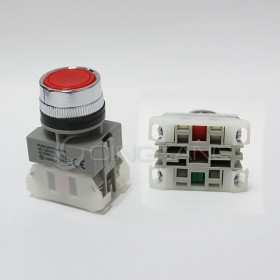 AP 平頭按鈕-紅(#25)  1A1B / 2A / 2B