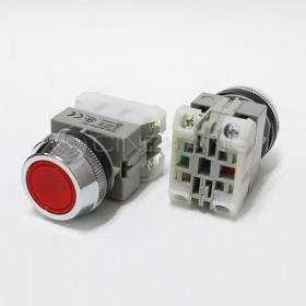 AP 平頭按鈕-紅(#30)  1A1B / 2A / 2B