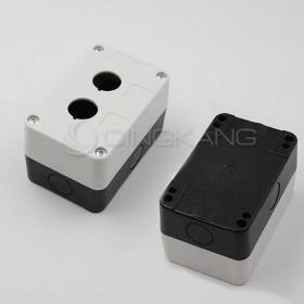 22mm 雙孔 開關盒 (白色)
