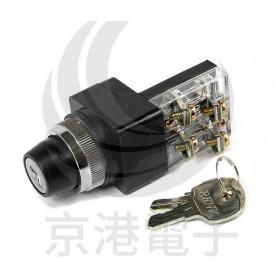 天得鎖匙選擇開關二段 O25mm 1A1B TKS-25