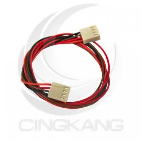 Molex 2.54mm 4P 雙頭母頭連接器帶線 45CM