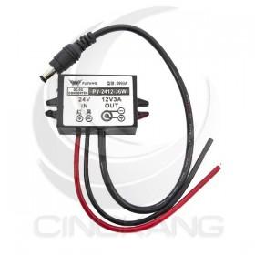DC-DC 附壓電源轉換器+DC線 PY-2412-36W 24降12V