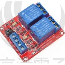 12V 2路繼電器高/低電平驅動板(H:4.5~12V/L:0~1.4v)