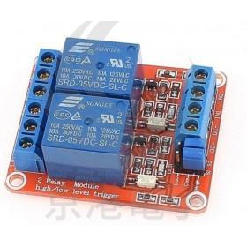 5V 2路繼電器高/低電平驅動板(H:2.5~5V/L:0~1.5v)