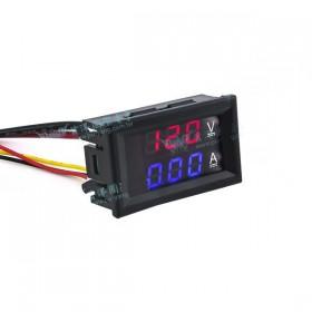 三位元雙顯示 LED直流電壓/電流表頭 DC100V/10A (紅/藍)