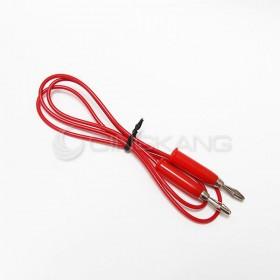 電錶線 香蕉頭*香蕉頭 2.5尺 紅色