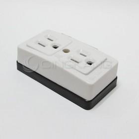 H型插座 3P 2格 15A LK3214