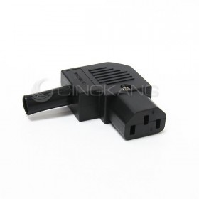 3P品字10A AC電源插座 L型 (RoHS)