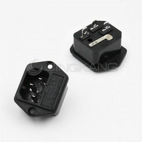 3P AC插座+保險絲座(鎖螺絲式)