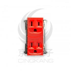 國際牌 Panasionic WNF 15123RK 鐵片埋入式 雙插座接地 紅色