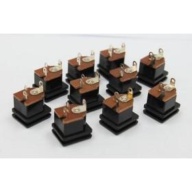 5.5-2.1MM 方型面板安裝 DC電源插座(10入)