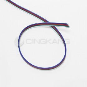 七彩(RGB) 28AWG LED四色線 (1米)