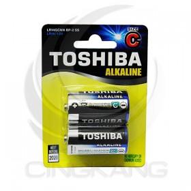 東芝鹼性電池 2號(2入)