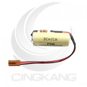 FDK CR17450 高容量 鋰電池 (也適於CR8) 3V 含電阻(含線1號接頭)