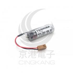 TOSHIBA PLC 鋰電池 ER6V /3.6V (一次性) (含線帶1號接頭)