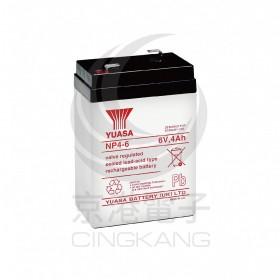 湯淺 YUASA NP4-6閥調密閉式鉛酸電池6V4Ah