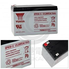 湯淺YUASA NPW36-12 閥調密閉式鉛酸電池12V36W