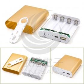 DIY 套件 4節18650行動電源盒-鋅合金 免焊