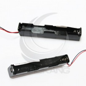電池盒(帶線)長型 4顆3號