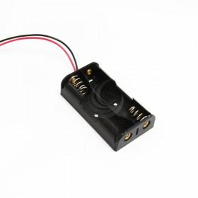 電池盒(帶線) 2顆3號 平面式