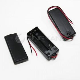 電池盒(帶線+開關+蓋子)2顆4號
