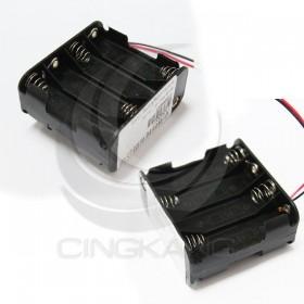 電池盒(帶線)方型 八顆三號