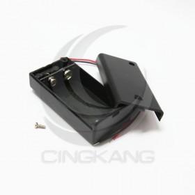 電池盒(帶線+開關+蓋子) 9V