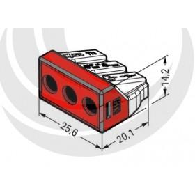 WAGO 773-173 接線端子3P32A 1.5-6mm (5入)