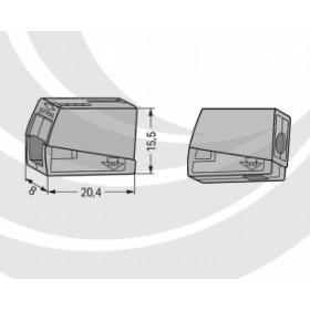 WAGO 224-101 24A 中間連接器接頭 0.5-2.5mm (100入)