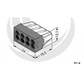 WAGO 773-108 中間連接器接頭 8P24A 0.75-2.5mm (5入)