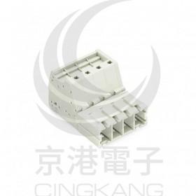 WAGO 831-3204 7.62mm 4孔針型連接器-公