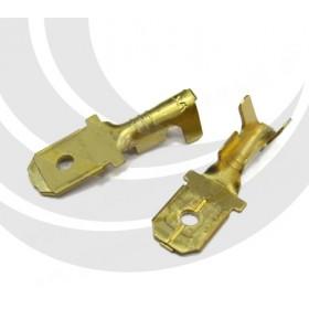 開放型公端子金色 BL2-250B-0 (22-16AWG)佳力牌(100入)