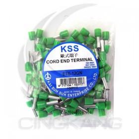 歐式端子 ET6-12GN (綠色)(100入)