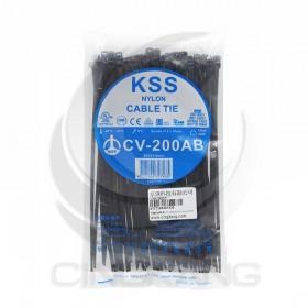 KSS 尼龍紮線帶(黑) CV-200AB 203*3.6mm/100PCS