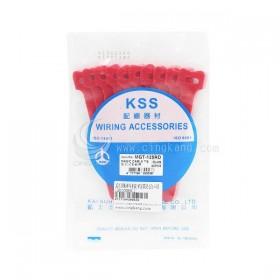 KSS MGT-125RD 黏扣式紮線帶(紅色) 20PCS/包 12*125mm