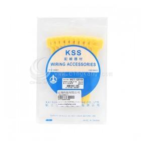 KSS MGT-125YW 黏扣式紮線帶(黃色) 20PCS/包 12*125mm