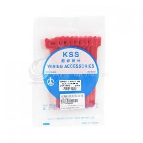 KSS MGT-135RD 黏扣式紮線帶(紅色) 20PCS/包 12*135mm